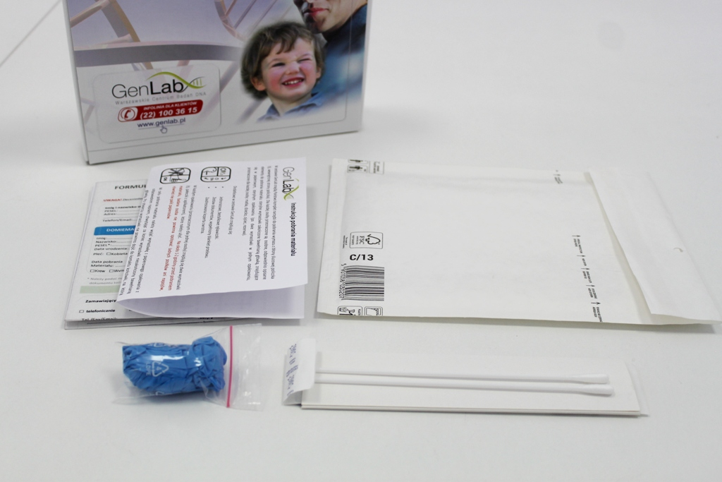 pobranie próbek do testu na ojcostwo